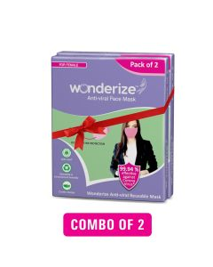 Wonderize Reusable Face Mask For Girls And Women - 4 Masks - Double Layer Breathable Fabric For Superior Protection - All Day Comfort - Complimentary Sanitary Napkin With Every Pack