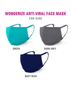 Wonderize Reusable Face Mask For Kids - 4 Masks - Double Layer Breathable Fabric For Superior Protection - All Day Comfort - Soft Cotton Masks For Toddlers/Boys/Girls